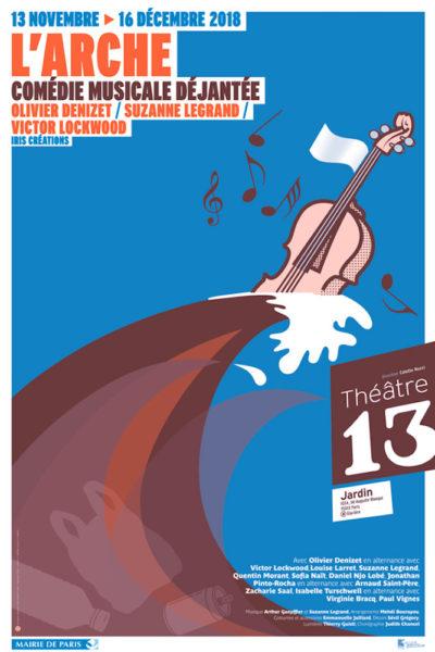 L'Arche - Affiche - Théâtre 13, 2018